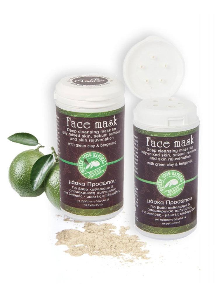 Μάσκα Προσώπου Green Clay Bioaroma