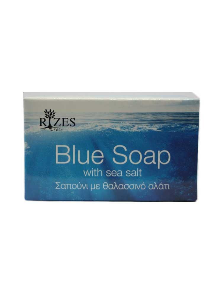 Blue Soap with Sea Salt by Rizes Crete