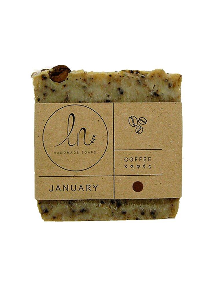 Ιανουάριος - Σαπούνι Καφέ 100gr από LN Handmade Soaps