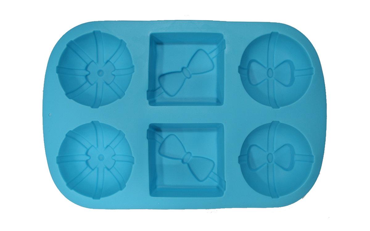 4 κυκλικά και 2 τετράγωνα ανάγλυφα με σχέδια