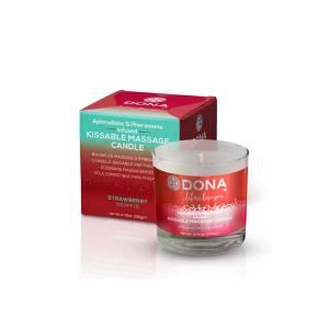 Strawberry Souffle Kissable Massage Candle 125ml by Dona