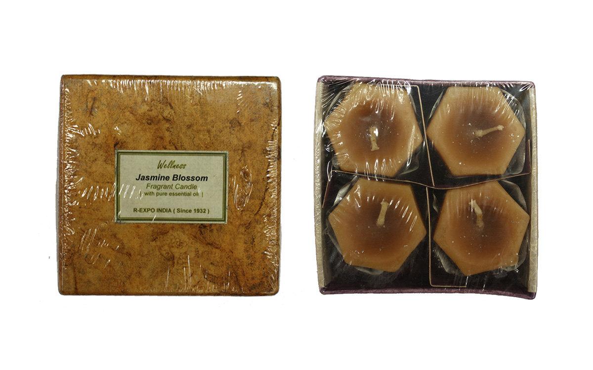 Jasmine Blossom Song of India Wellness Αρωματικά κεριά Σετ (4 κεριά)