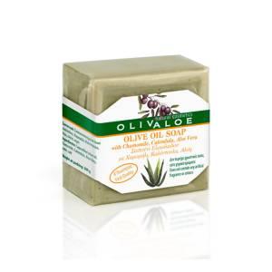 Σαπούνι με Αλόη, Καλέντουλα και Χαμομήλι OlivAloe