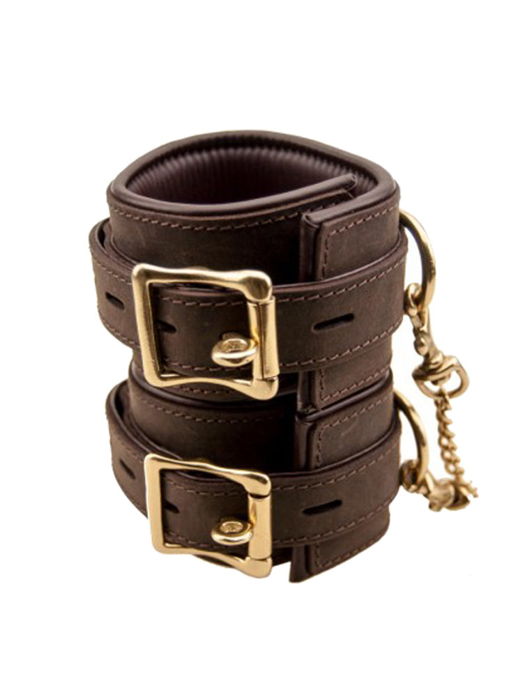 Bound Nubuck Wrist Restraints