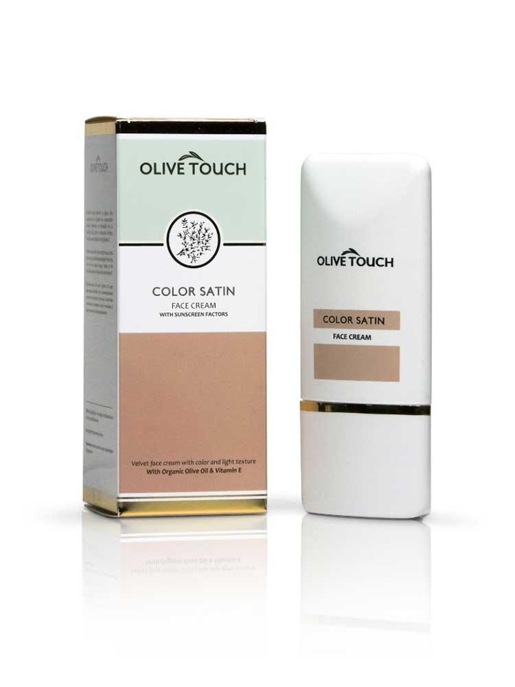Κρέμα Προσώπου με Χρώμα και Βιταμίνη Ε by Olive Touch 50ml