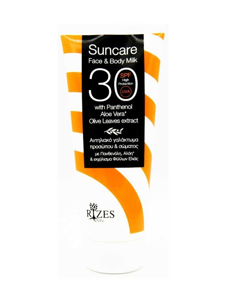 Suncare Face and Body Milk SPF 30+ by Rizes Crete 200ml