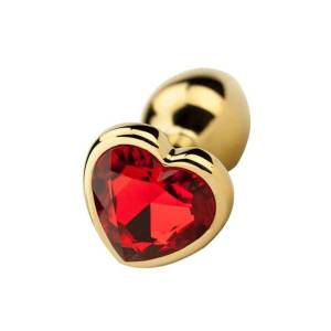 Heart Shaped Gold Anal Plug by Precious Metals
