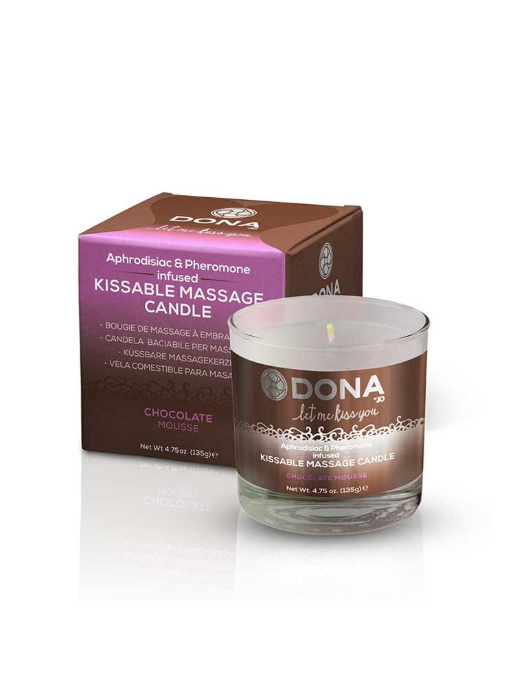 Chocolate Mousse Kissable Massage Candle 125ml by Dona