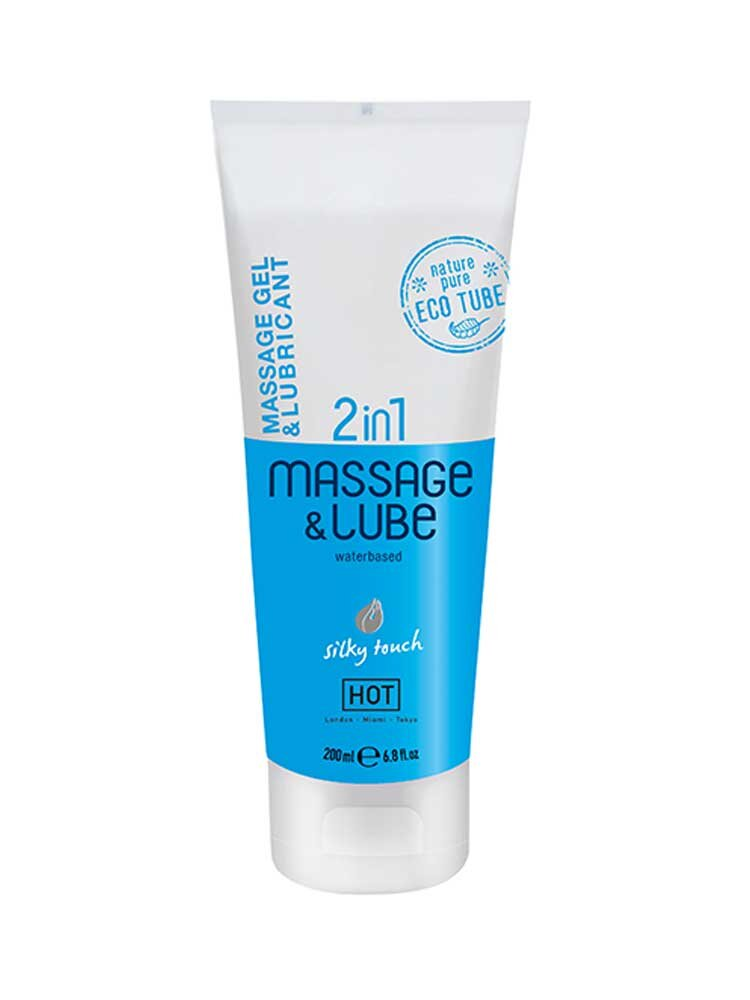 2 in 1 Massage & Lube Silky Touch 200ml by HOT Austria
