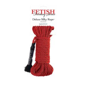 Deluxe Red Silky Rope by Pipedream