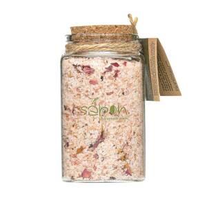 Άλατα μπάνιου Epsom & Himalayan με άρωμα τριαντάφυλλο 100ml Sapon Skin Care