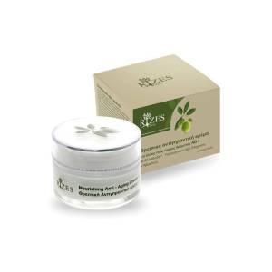 Αντιγηραντική κρέμα για όλους τους τύπους δέρματος (40+) με ελαιόλαδο, υαλουρονικό οξύ, ελίχρυσο & αβοκάντο από την Rizes Crete 50ml