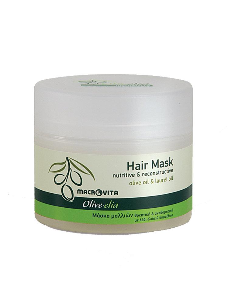 Μάσκα μαλλιών με δαφνέλαιο Macrovita