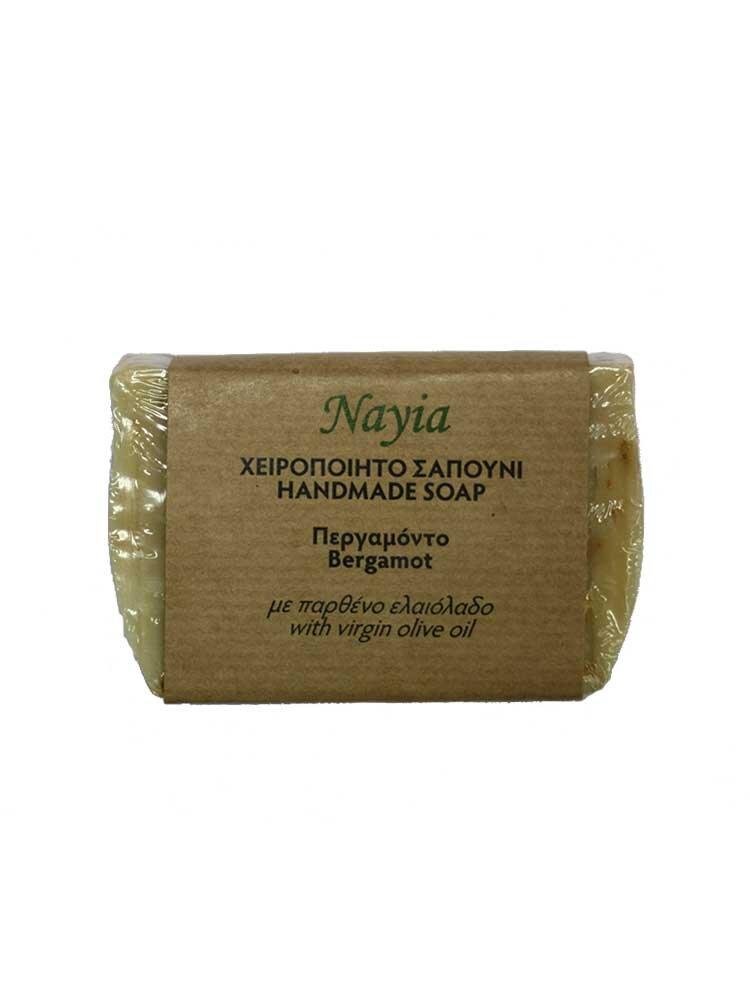 Χειροποίητο Σαπούνι ελαιολάδου με περγαμόντο 80gr Nayia