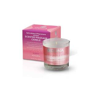 Blushing Berry Kissable Massage Candle 135gr by Dona
