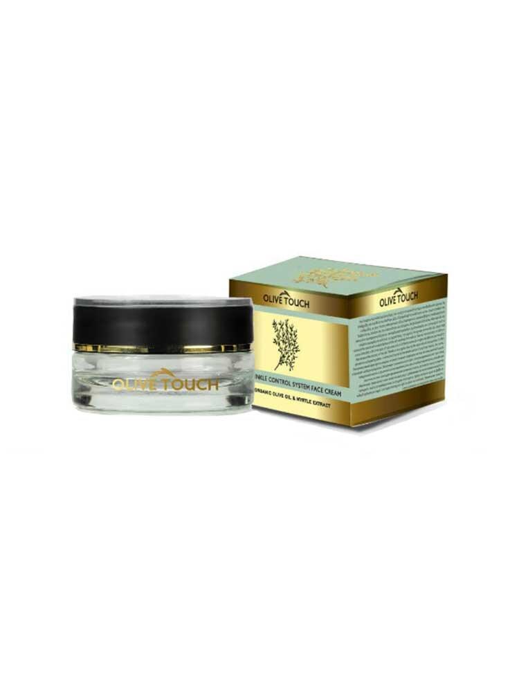 Αντιρυτιδική Κρέμα Ημέρας με βιολογικό λάδι ελιάς και εκχύλισμα μυρτιάς 50ml Olive Touch