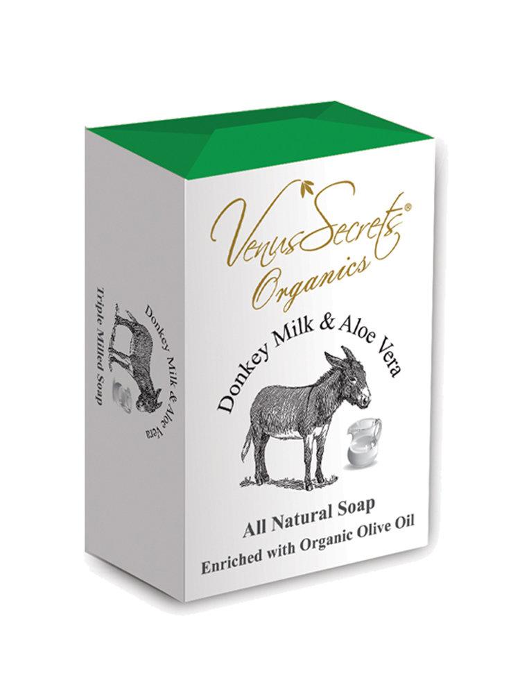 Σαπούνι με γάλα γαϊδάρας και αλόη από Venus Secrets Organics 150gr
