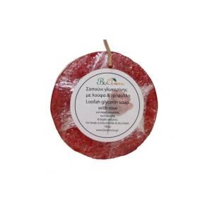 Σαπούνι με λούφα και τριαντάφυλλο Bioaroma