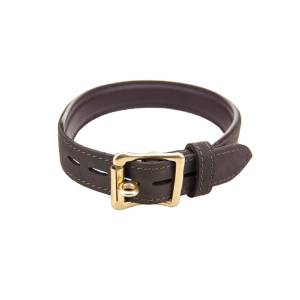Bound Nubuck Leather Choker (collar)