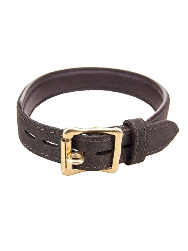 Bound Nubuck Leather Choker (collar)