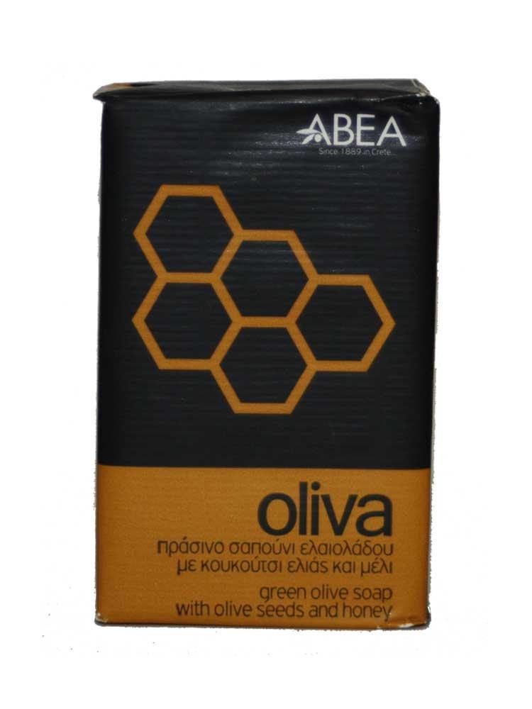 Πράσινο σαπούνι ελαιολάδου με κουκούτσι ελιάς και μέλι Oliva ΑΒΕΑ