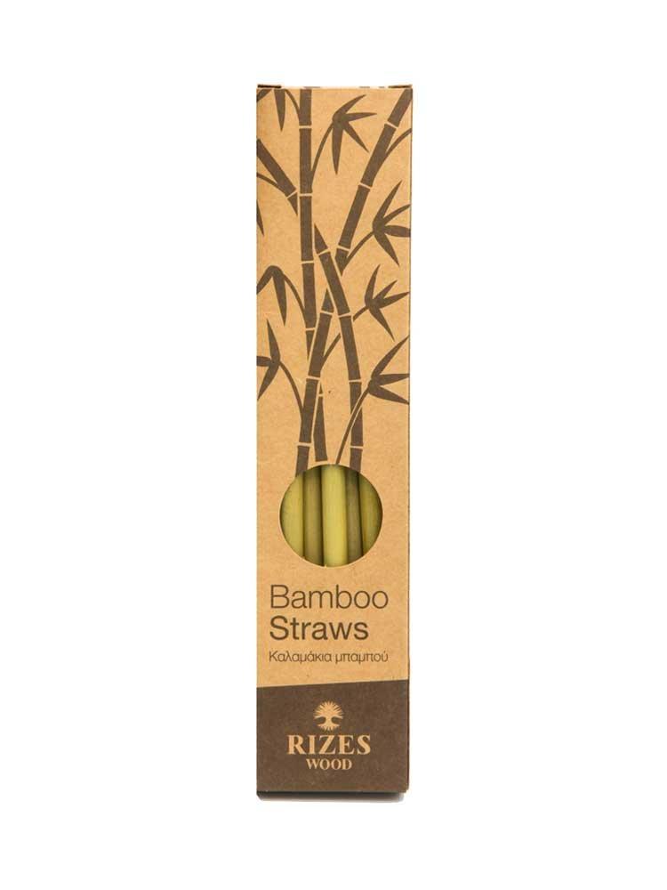 Καλαμάκια Bamboo Μεγάλα by Rizes Crete