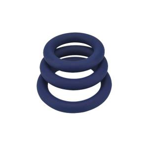 Thick Silicone Cock Rings 3 Pack by Loving Joy
