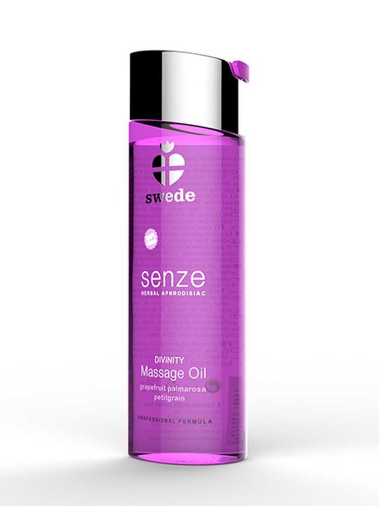 Senze Herbal Aphrodisiac Divinty Massage Oil 75ml Grapefruit/Palmarosa/Petigrain by Swede