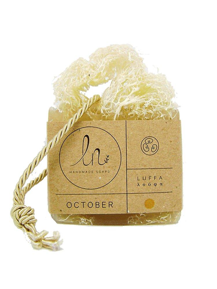 Οκτώβριος - Σαπούνι με Σφουγγάρι Λούφα 100gr από LN Handmade Soaps