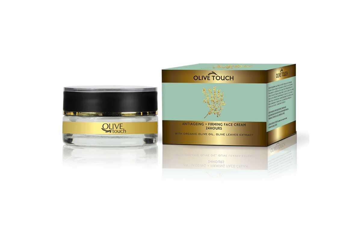 24ωρη Aντιγηραντική- Συσφικτική Κρέμα Προσώπου με εκχύλισμα φύλλων ελιάς 50ml Olive Touch