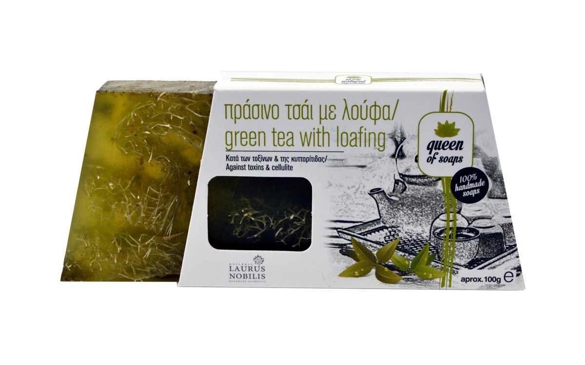 Σαπούνι Πράσινο Τσάι Με Λούφα Laurus Nobilis