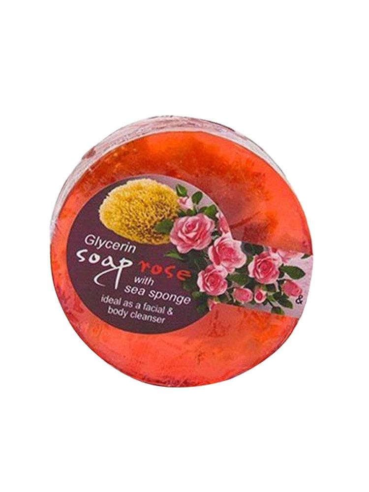 Σαπούνι γλυκερίνης με θαλασσινό σφουγγάρι και αιθέριο έλαιο τριαντάφυλλου Bioaroma