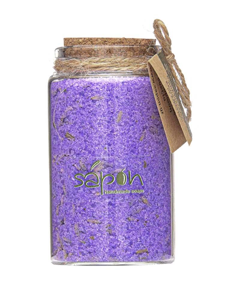Άλατα μπάνιου Epsom με αιθέριο έλαιο λεβάντας 100ml Sapon Skin Care